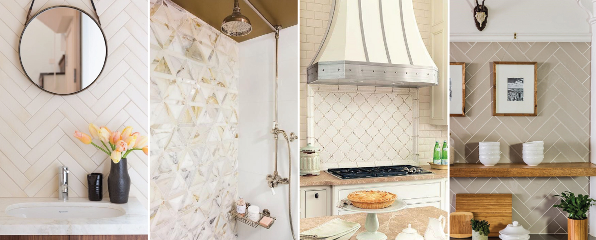 Warm inviting tile header